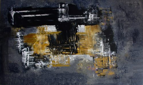Abstract Painting_Black and yellow